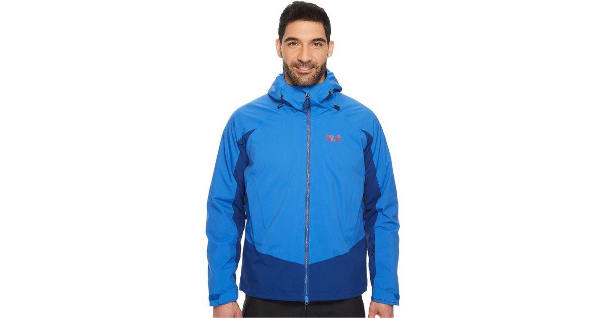 6863a2c57fc Jack Wolfskin Exolight Base Jacket in Blue for Men - Lyst