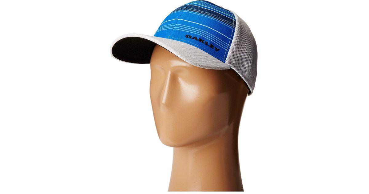 Lyst - Oakley Silicon Bark Trucker Print 2.0 Hat in Blue for Men 1b30d1ea589