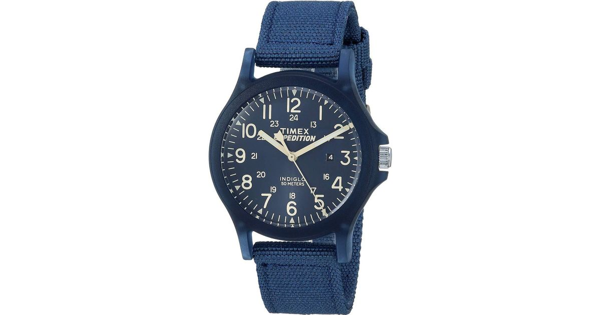 72467dd91551 Lyst - Timex Expedition Camper Core Mid Size in Blue