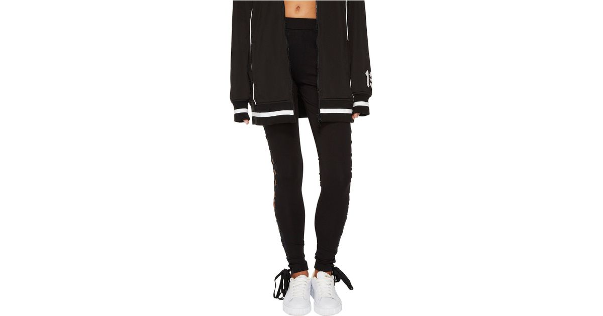 6915350d7d79f0 PUMA Fenty Boxing And Bomber Lacing Tights in Black - Lyst
