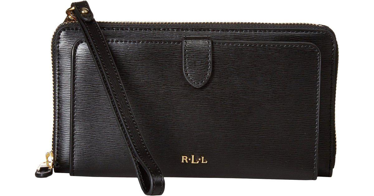 Lyst - Lauren by Ralph Lauren Newbury Everything Wristlet in Black 5e53e41971