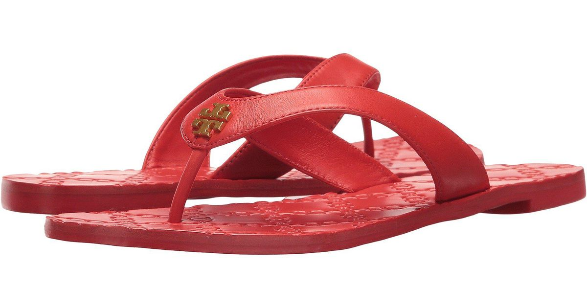 7f81ec2f26ff Lyst - Tory Burch Monroe Thong Sandal in Red