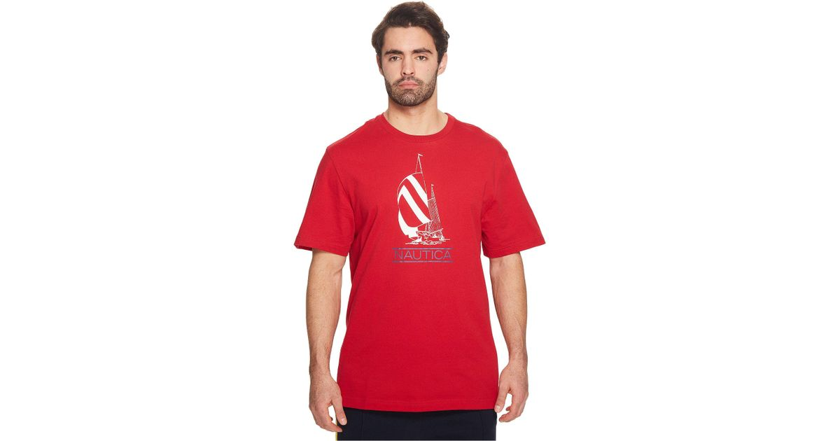 b062e8823 Nautica Big & Tall Spinnaker Lil Yachty Tee in Red for Men - Lyst