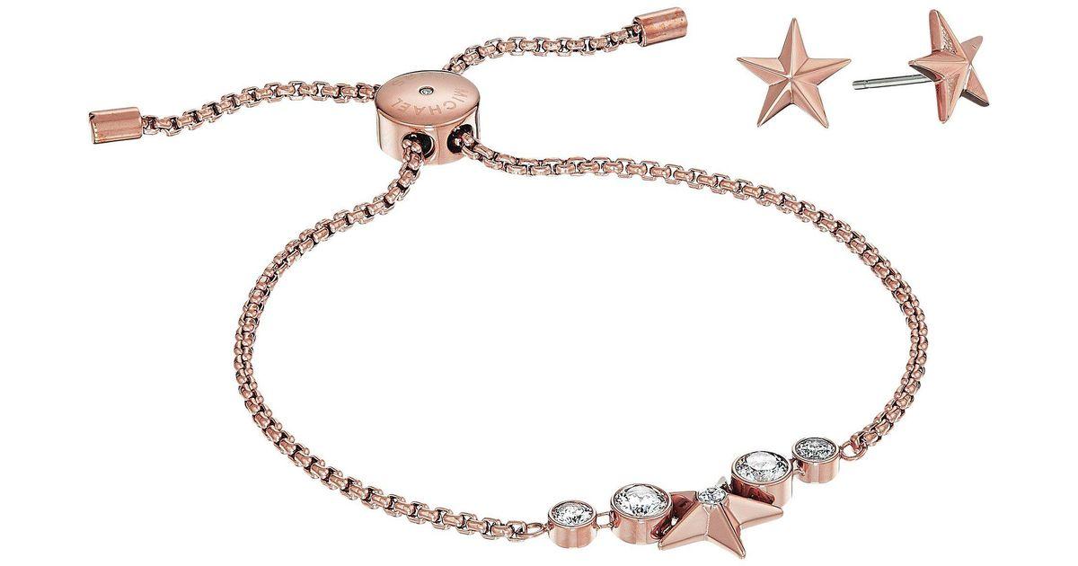 a3522bfdb3be Lyst - Michael Kors Starburst Slider Bracelet W  Matching Earrings Set in  Metallic