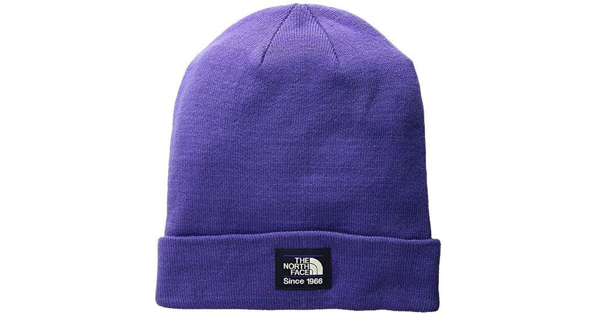 3c471f0a6 The North Face - Purple Dock Worker Beanie (deep Blue/urban Navy) Beanies -  Lyst