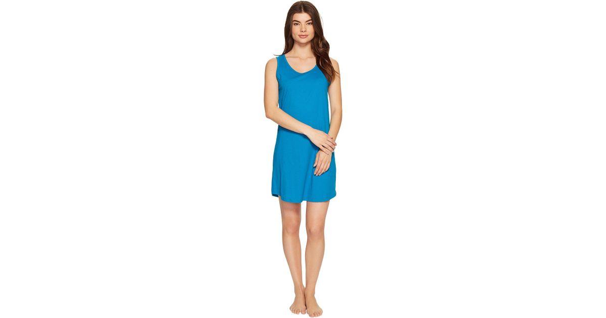 Lyst - Jockey Sleepwear 100% Cotton Sleeveless Sleep Shirt in Blue - Save 33 % b9b340465