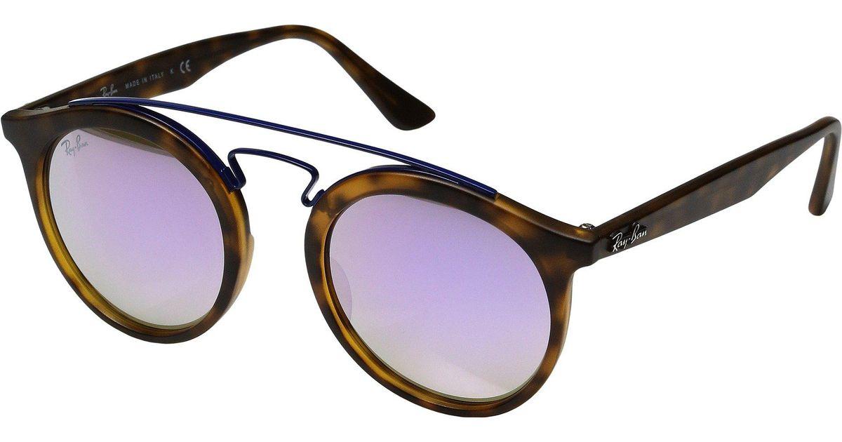 Ray-Ban Gatsby Sonnenbrille Mattes Havana 6266B0 49mm 6r0am