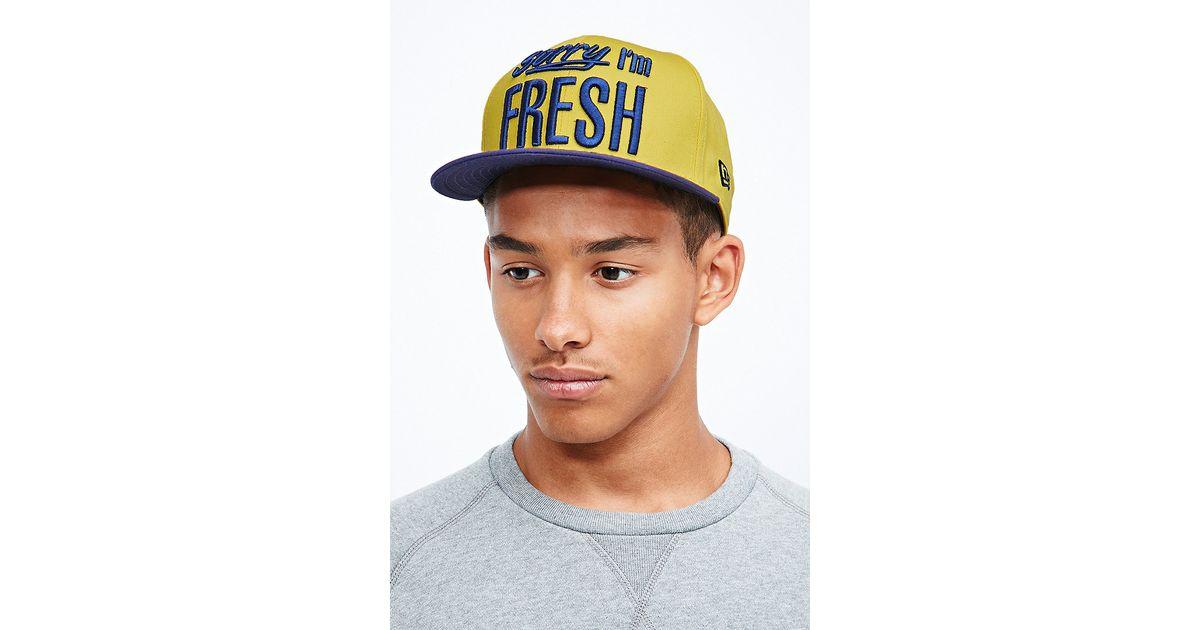 5d2e4cd204d KTZ 9fifty Sorry Im Fresh Snapback Cap in Yellow in Purple for Men - Lyst