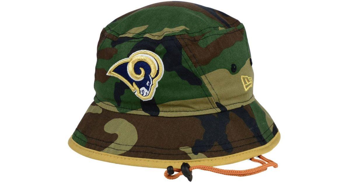 50cdc0bced1 Lyst - KTZ St. Louis Rams Camo Pop Bucket Hat in Green for Men