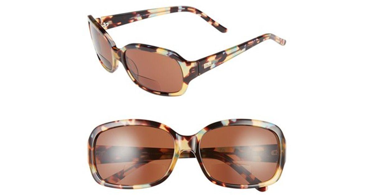 ad25b9cef9f Lyst - I-line Eyewear  hint  58mm Reading Sunglasses - Hint in Yellow