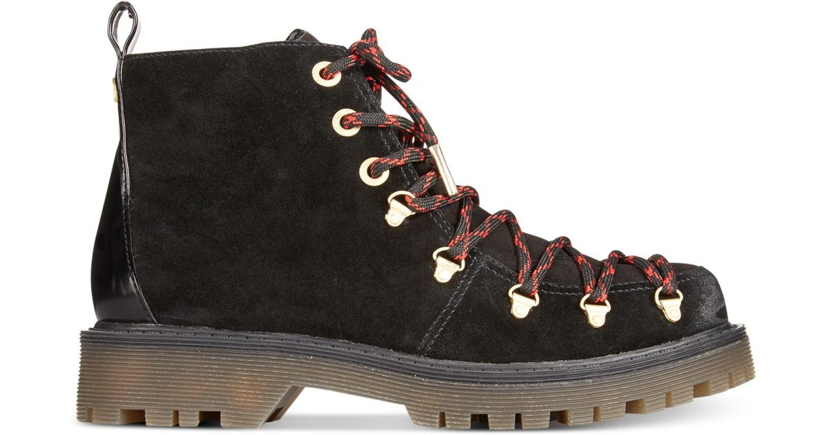 6e0ea932b Lyst - Circus by Sam Edelman Kane Lace-up Booties in Black