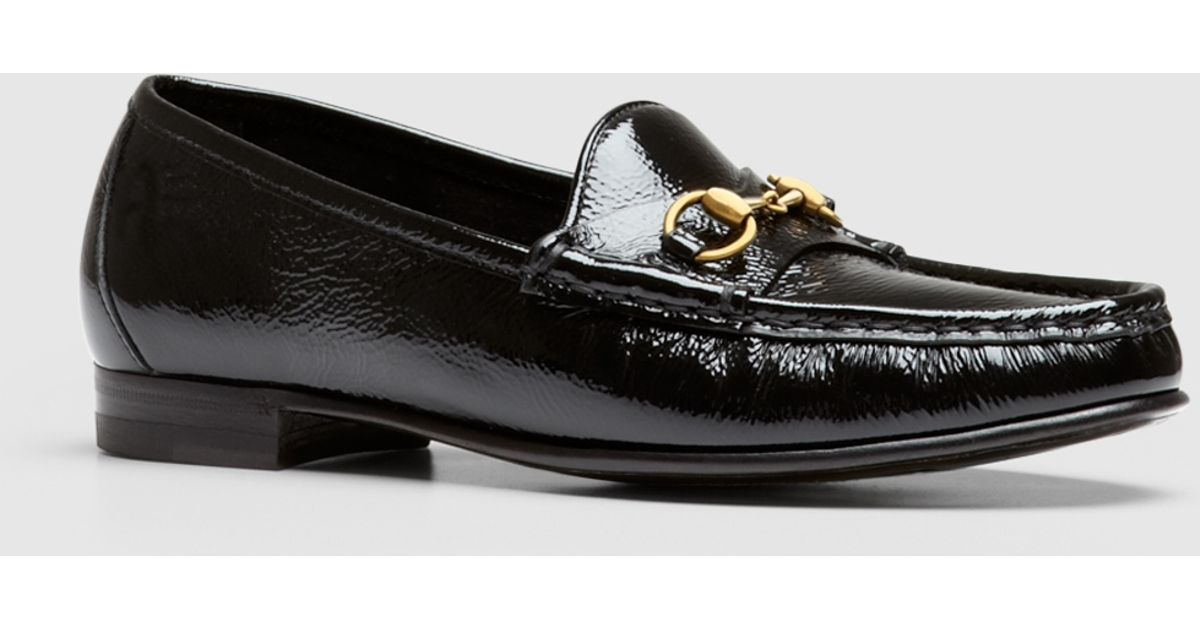 66488baad22 Lyst - Gucci 1953 Horsebit Loafer In Patent Leather in Black
