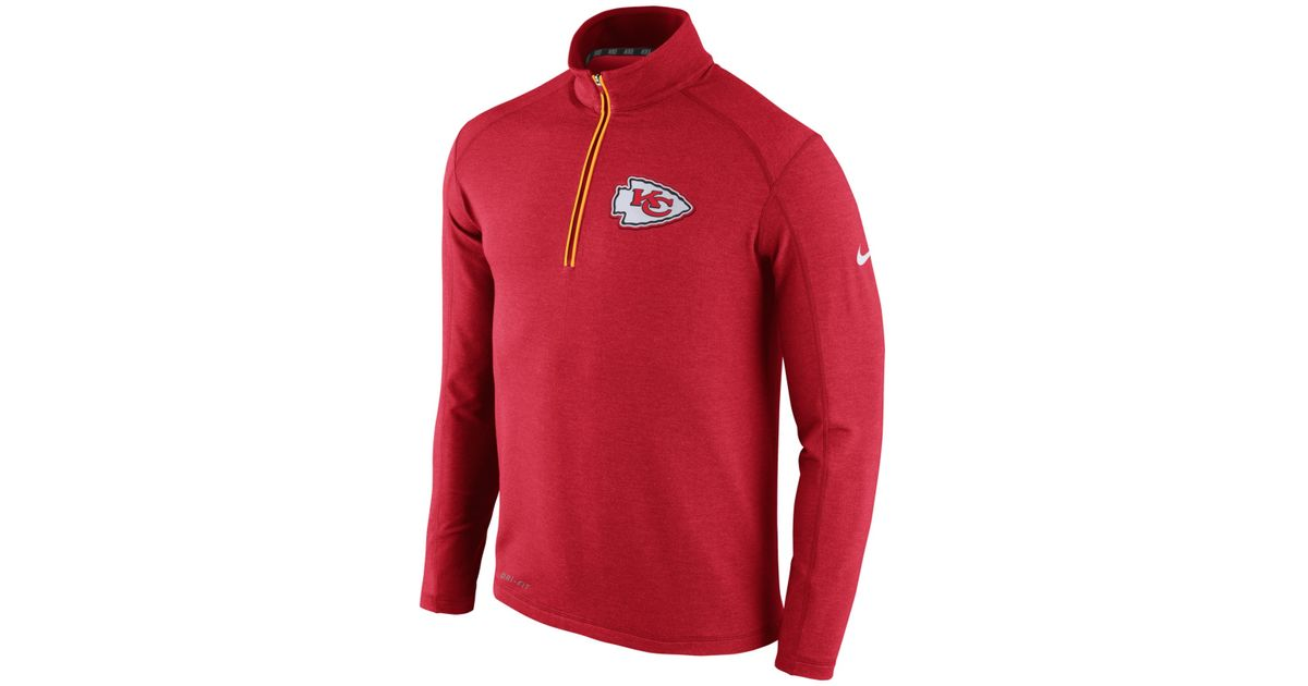 e802c7ee Nike Men's Kansas City Chiefs Half-zip Dri-fit Jacket in Red for Men ...