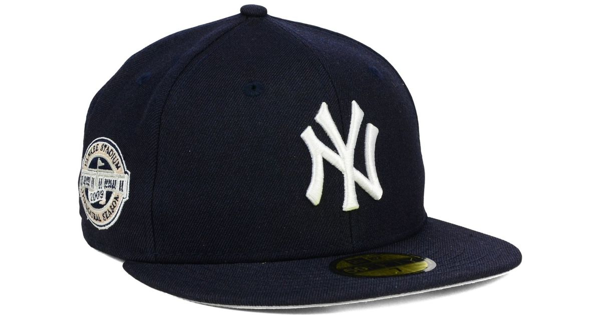 67ee8c9f15a Lyst - KTZ New York Yankees Stadium Patch 59fifty Cap in Blue for Men