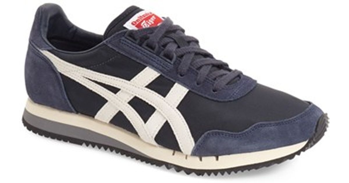 separation shoes c8145 91291 Onitsuka Tiger White Dualio Canvas and Suede Sneakers for men