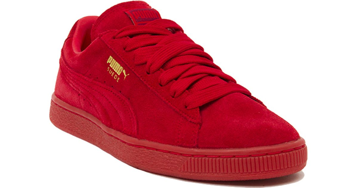 c0180ced457e Lyst - PUMA Suede Classic + Mono Iced Sneakers in Red