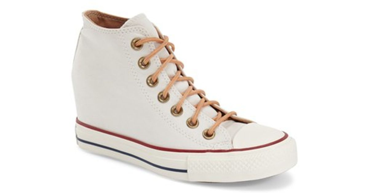 9bbbdded7c776b Lyst - Converse Chuck Taylor All Star  lux  Hidden Wedge High Top Sneaker  in Brown
