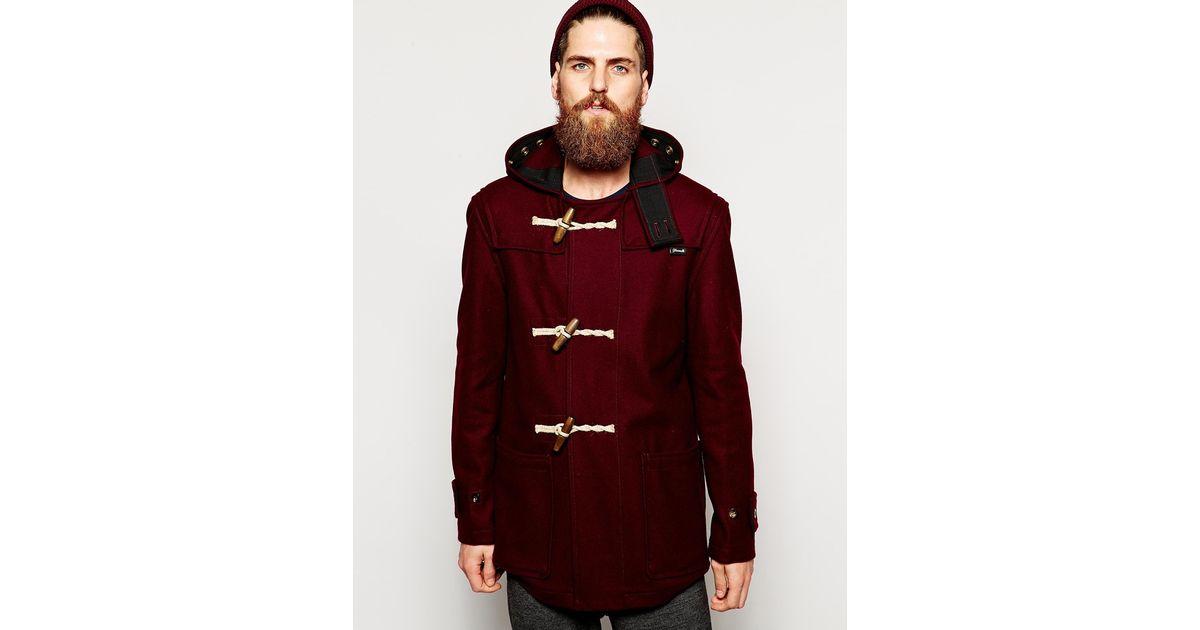 Gloverall Duffle Coat In Melton Wool in Purple for Men | Lyst