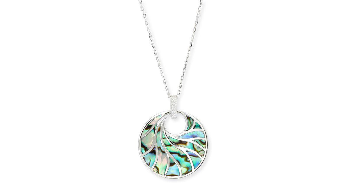 Frederic Sage Venus Abalone & Diamond Pendant Necklace ZCiOuWt2CN