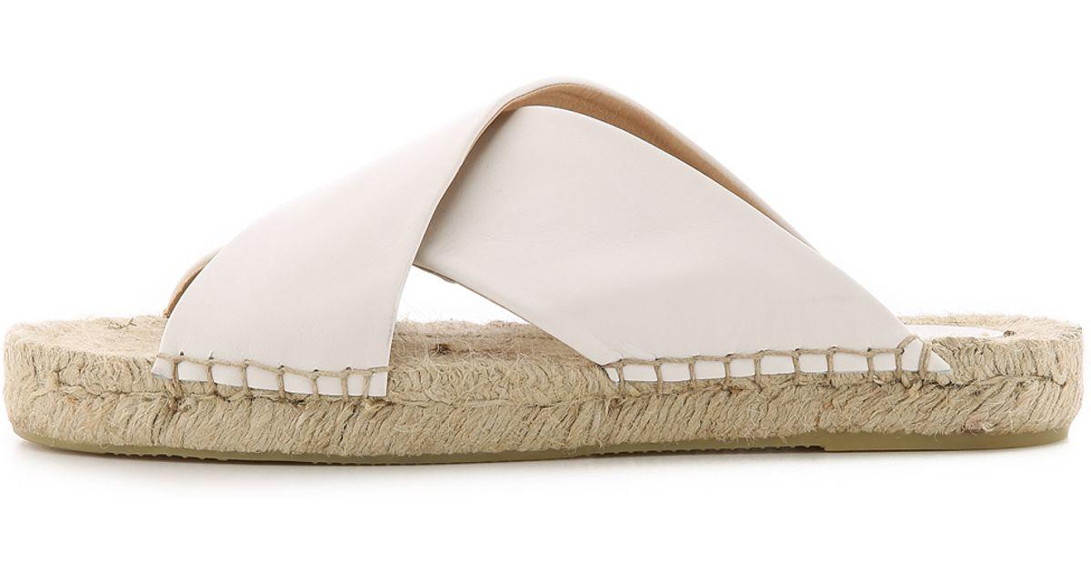 d9ff258739a Lyst - Soludos Crisscross Platform Espadrille Sandals - White in White