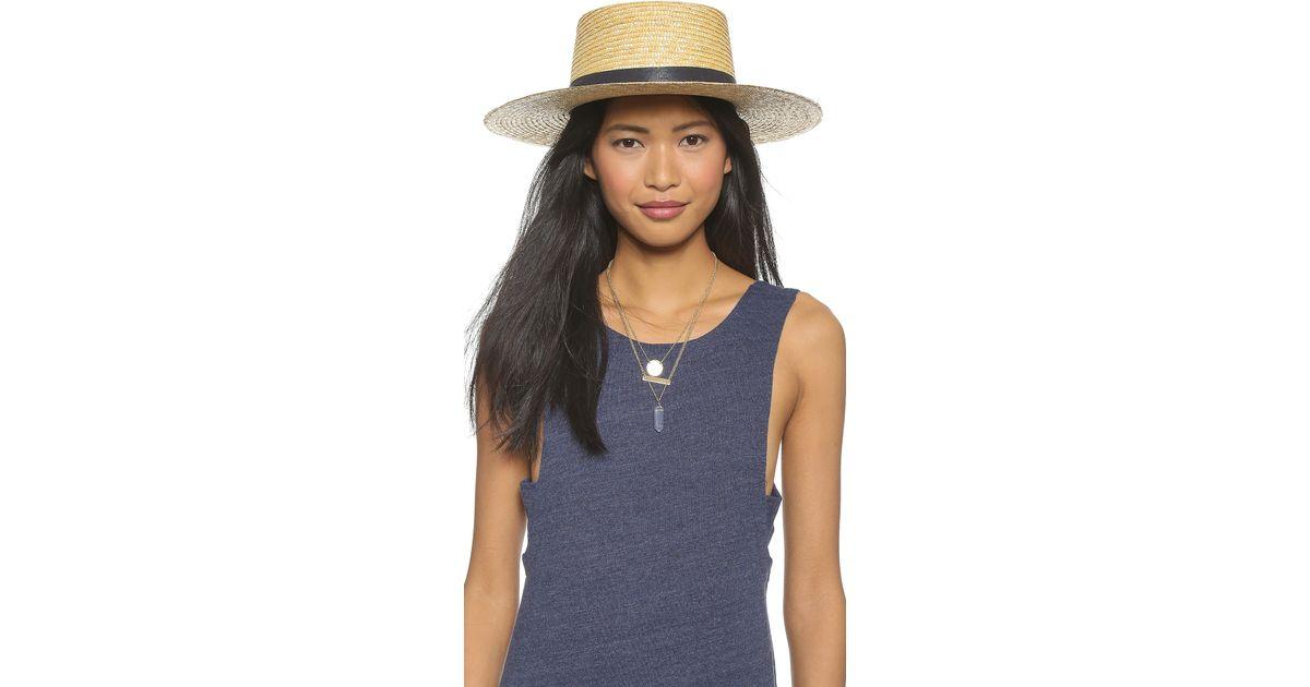 6350218d14e Lyst - Janessa Leone Klint Hat in Yellow