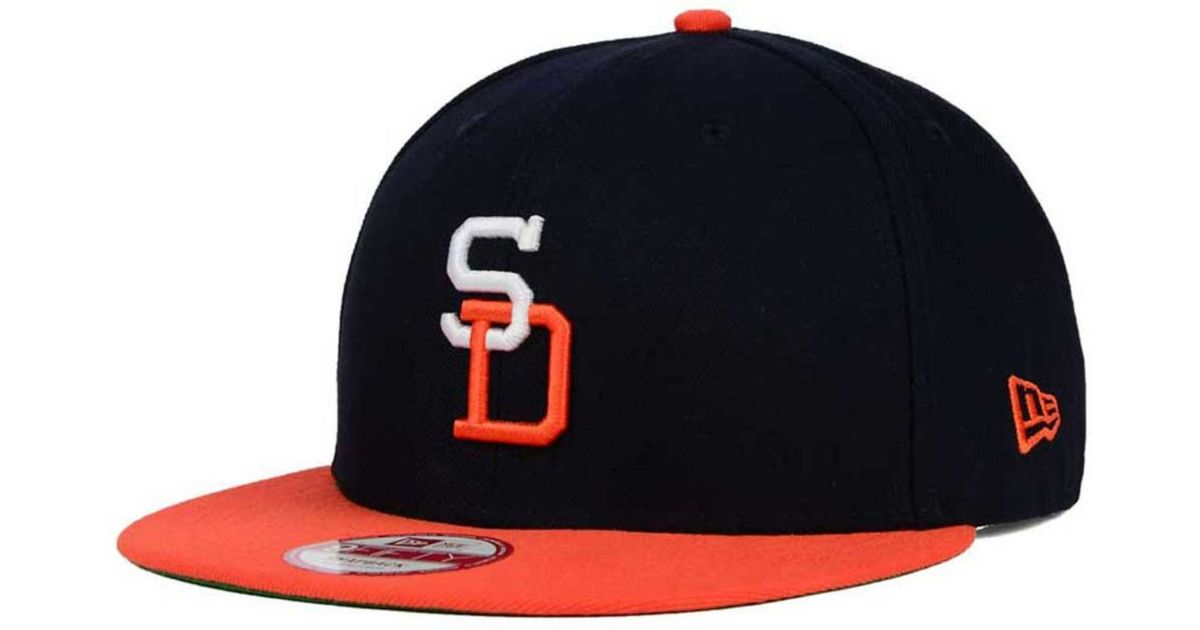 online store 3cfa1 36713 ... hot lyst ktz san diego padres all star patch 9fifty snapback cap in  orange for men