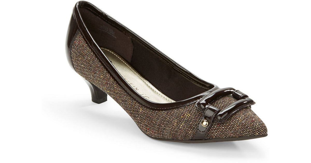 Anne klein Melanie Kitten Heel Pumps in Brown | Lyst