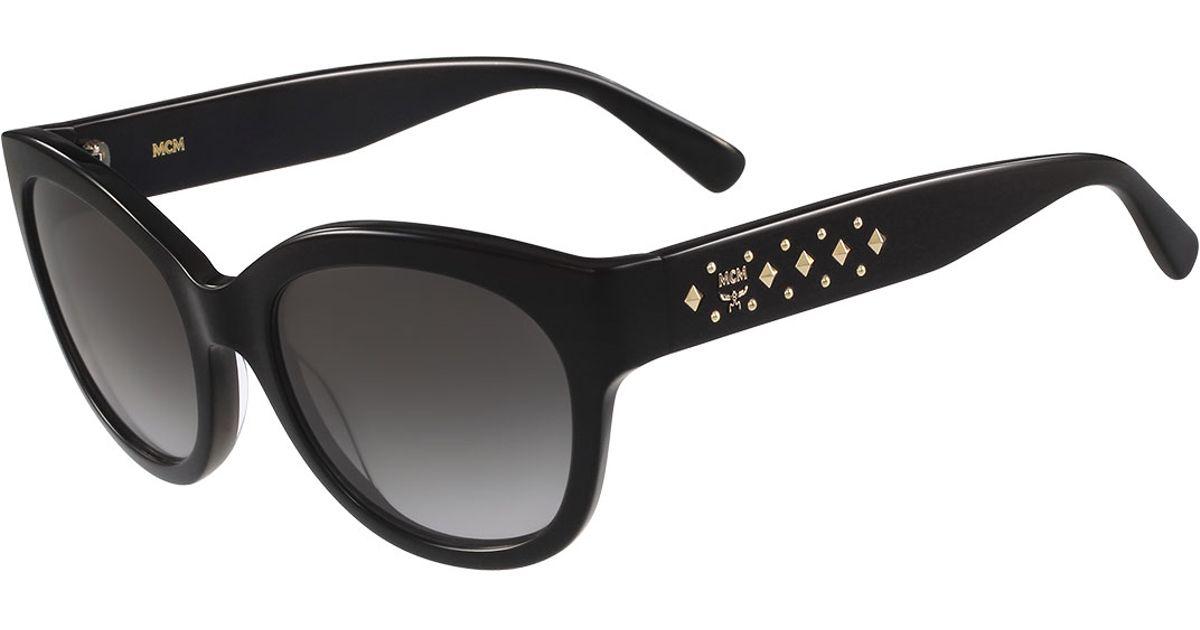 f08fcbe2e MCM Studded Cat-eye Sunglasses in Black - Lyst