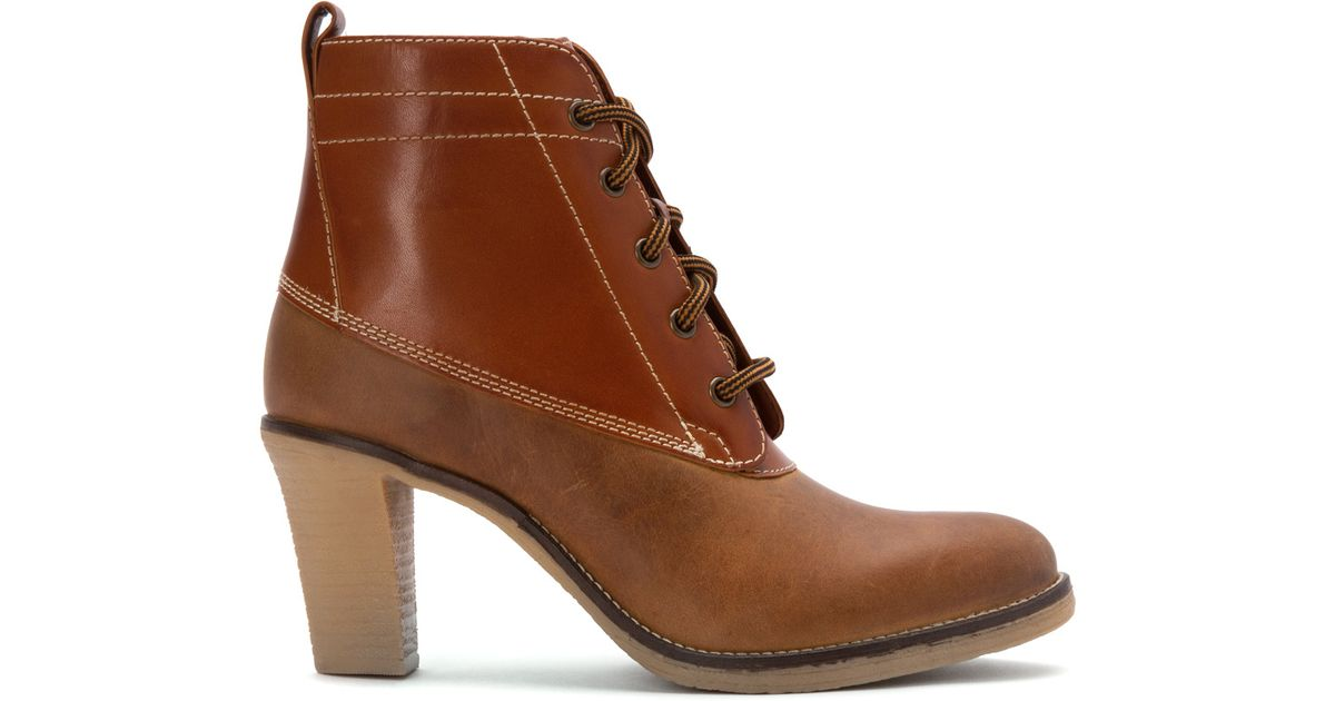 e162080a3927 Lyst - Johnston   Murphy Jeanie Lace-up Duck Boot in Brown