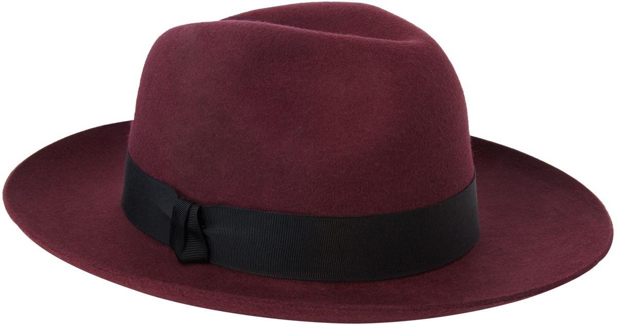 Christys  Grosvenor Wool Felt Wide Brim Fedora Hat in Purple for Men - Lyst b821777b472