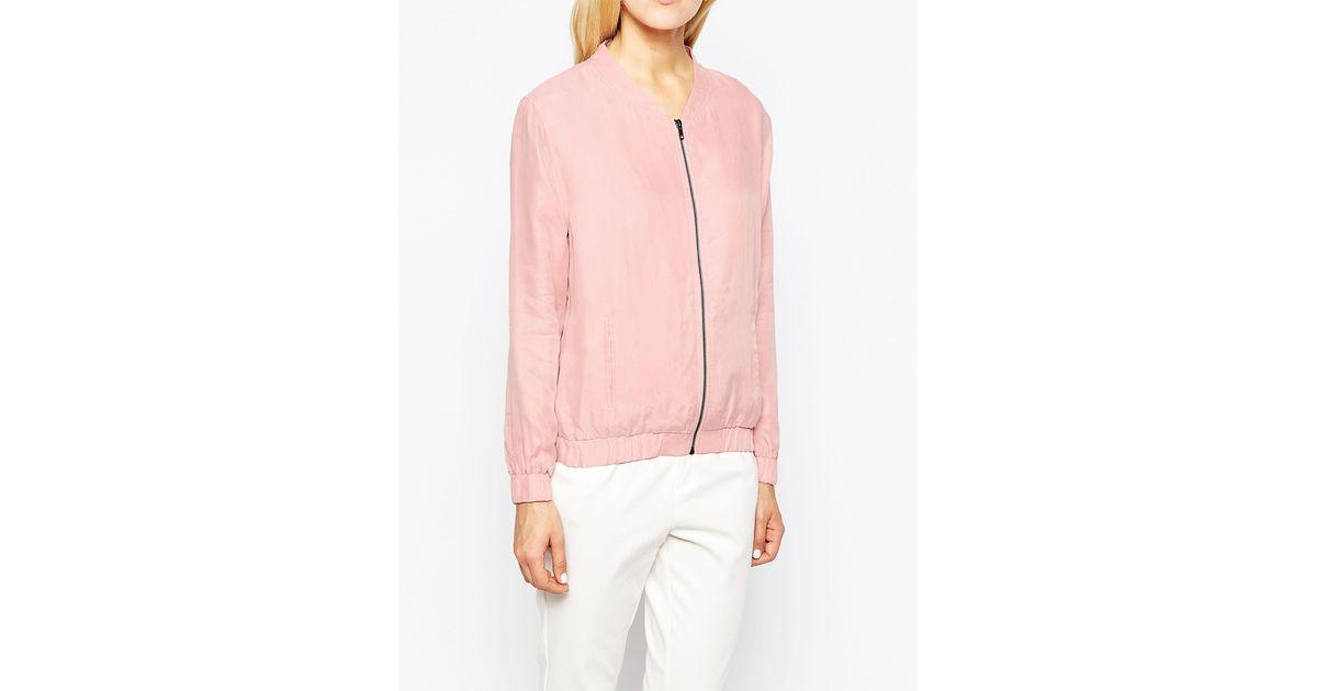 98be653f9 Pop Cph Pink Zip Cupro Blouson Bomber Jacket