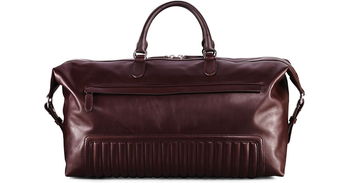 17e270f7c7 Lyst - Ralph Lauren Quilted Leather Duffel Bag in Brown for Men