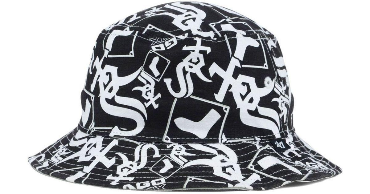 ef053dd3 47 Brand - Black Chicago White Sox Bravado Bucket Hat for Men - Lyst