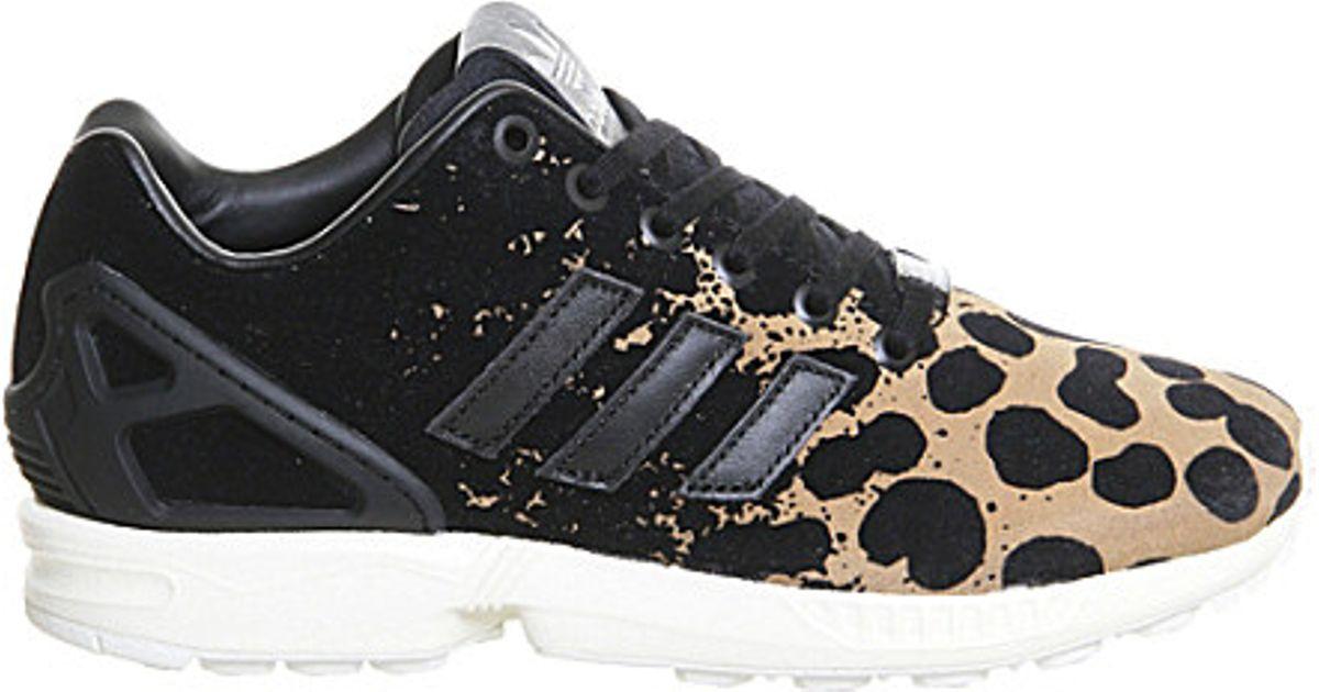 détaillant en ligne 05791 0fe52 Adidas Black Zx Flux Leopard-print Trainers