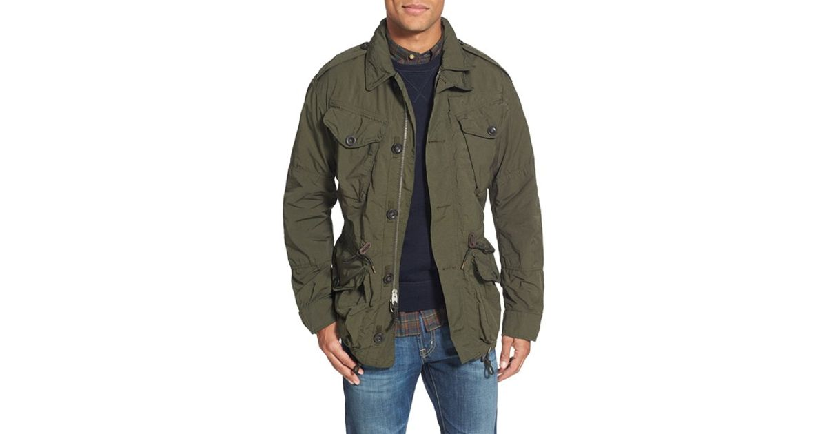 b25a84e4cfba0 Lyst - Polo Ralph Lauren Twill Combat Military Jacket in Green for Men