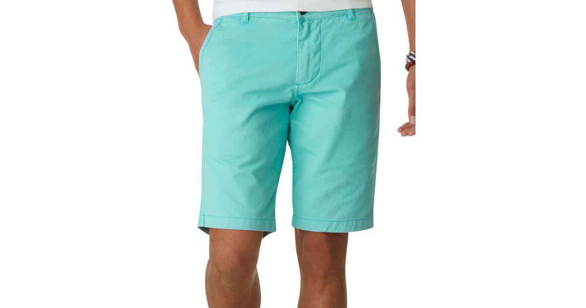 Dockers Alpha Flat Front Khaki Shorts in Blue for Men | Lyst