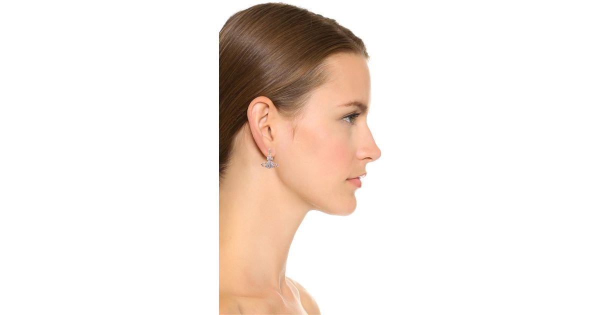 7516663151f Vivienne Westwood Grace Bas Relief Earrings - Light Amethyst in Purple -  Lyst