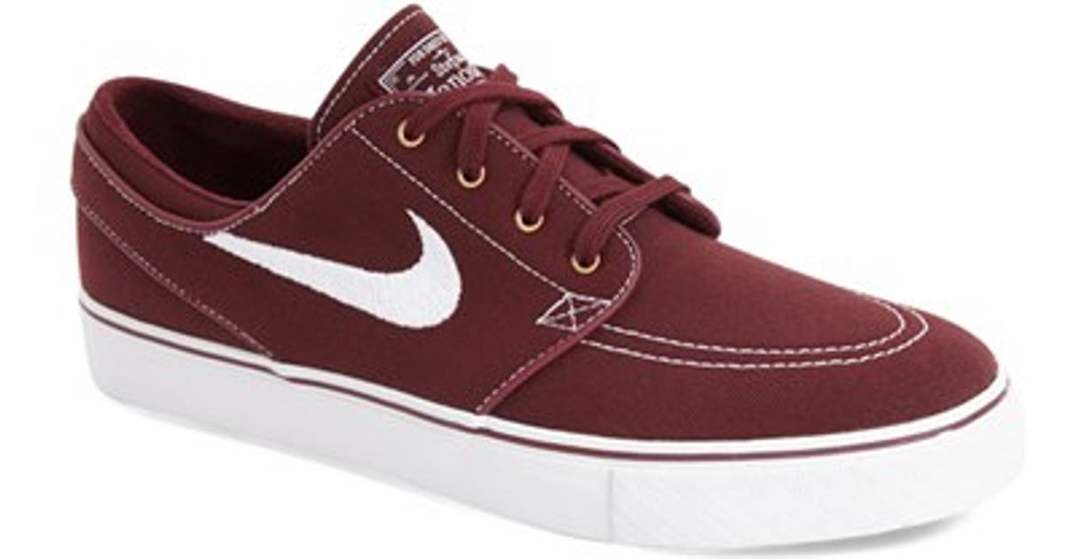 Nike Zoom Stefan Janoski Sb Canvas Skate Shoe In Red