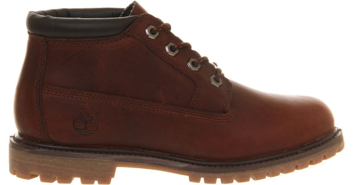 timberland nellie chukka waterproof boots in brown