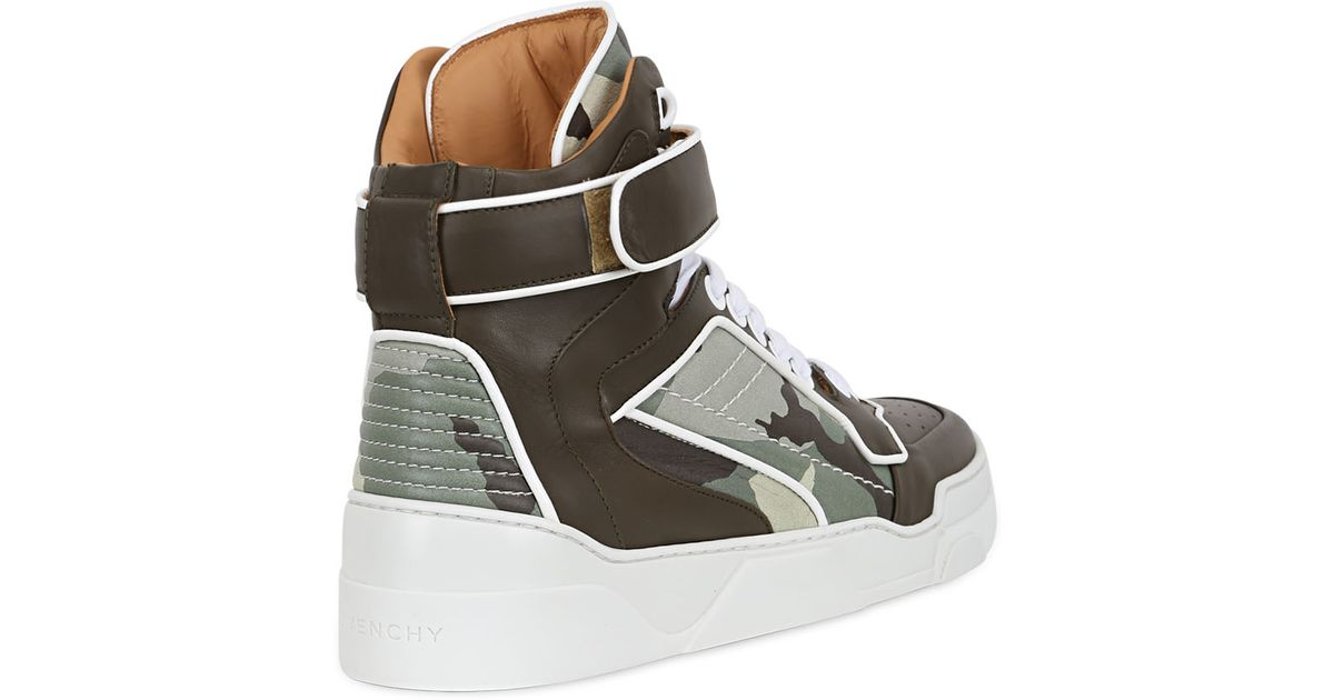 Givenchy Camo Suede Leather High Top