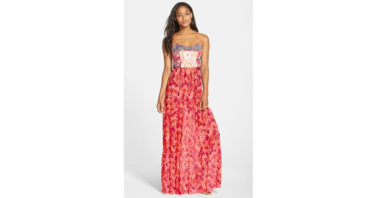 4ce67a59c3ec3 Lyst - Maaji  smoothie  Cover-up Maxi Dress in Red