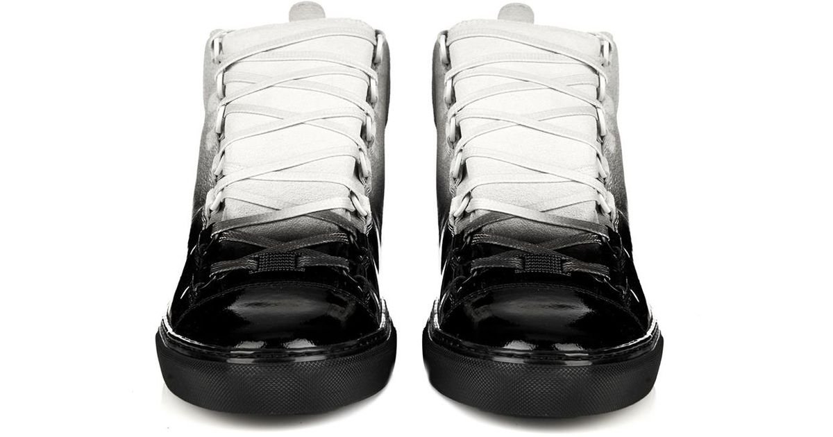 933495d812ae Lyst - Balenciaga Arena Ombré-Effect High-Top Trainers in Black for Men