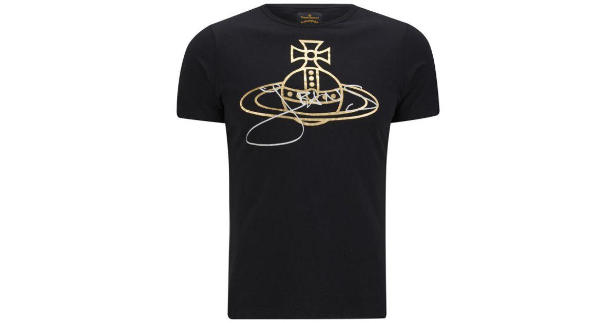 popular stores united kingdom huge discount Vivienne Westwood Anglomania Black Mens Jeans Orb T-shirt for men