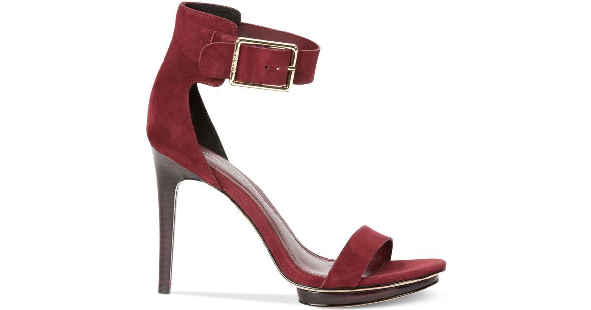 d7e0bce8555 Calvin Klein Red Women'S Vivian High Heel Sandals