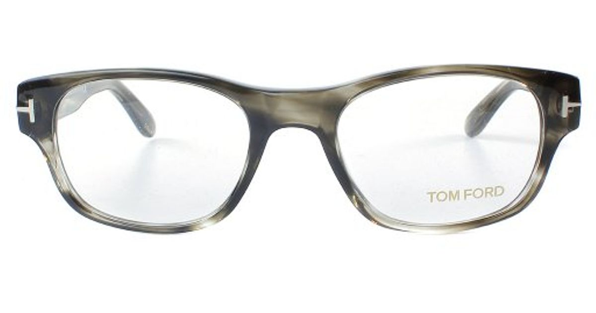 fb5d91ac768 Lyst - Tom Ford Ft 5276 020 Striped Grey Rectangle Plastic Eyeglasses in  Gray