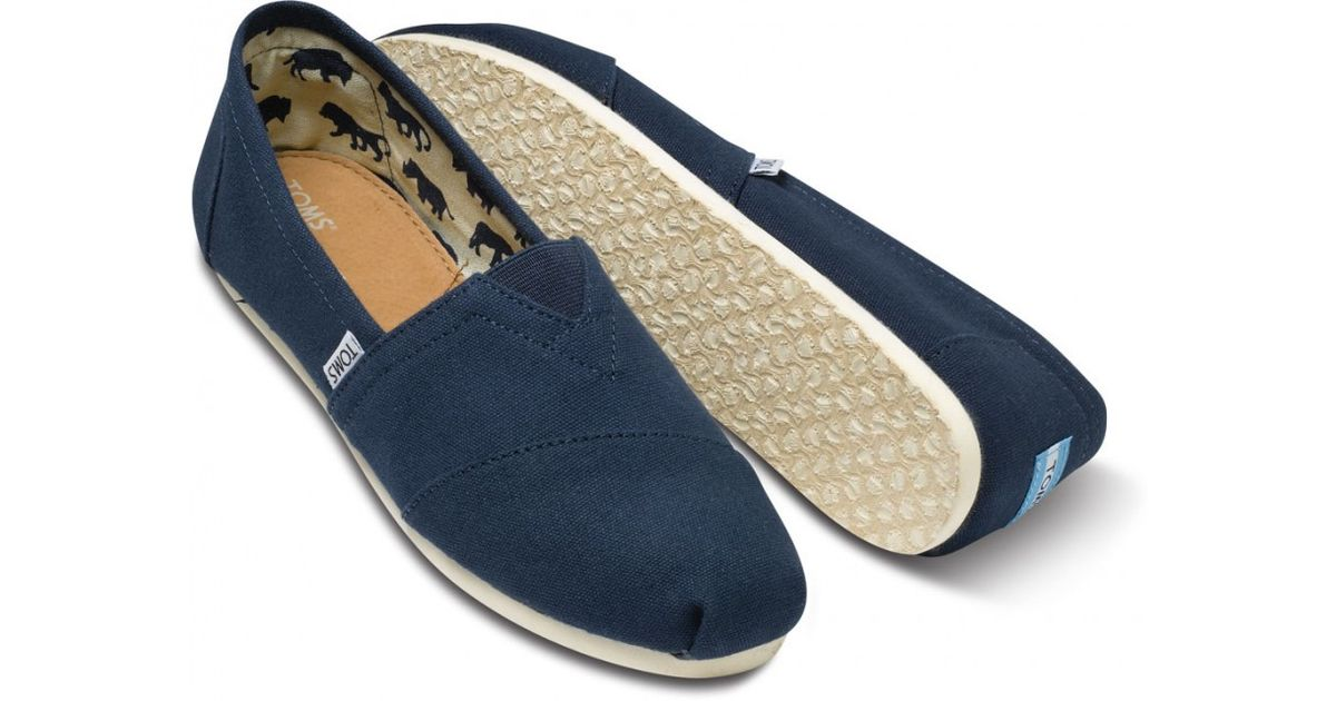 495ce3332fb Lyst - TOMS Navy Canvas Mens Classics in Blue for Men