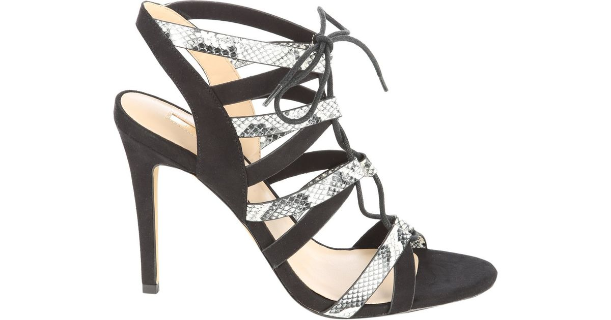 Womens Snake Skin Court Shoes With Ankle Strap