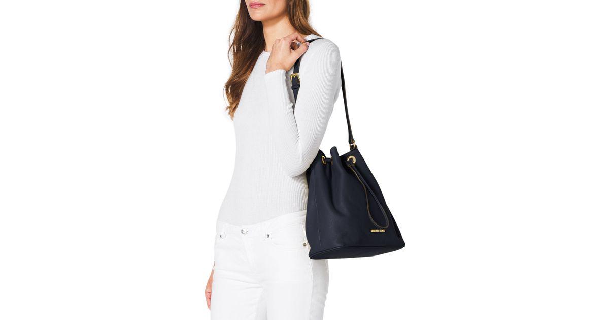 89d96967cd11 MICHAEL Michael Kors Large Jules Drawstring Shoulder Bag in Blue - Lyst