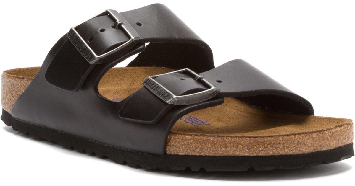 birkenstock arizona natural leather black