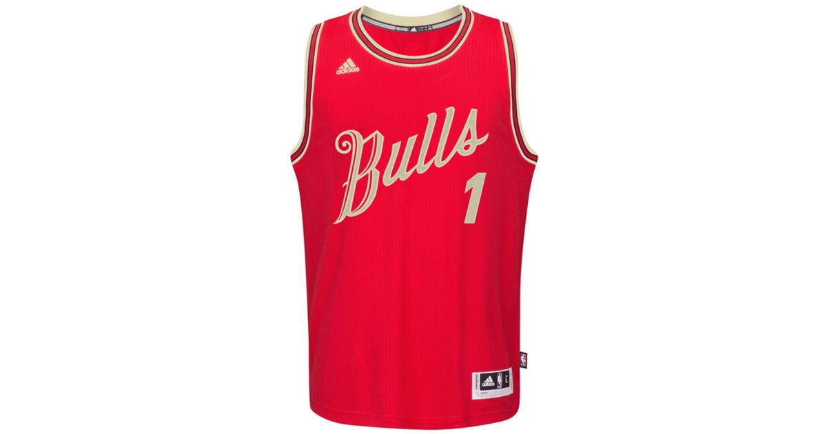 online retailer e6844 d0703 Adidas Red Men's Derrick Rose Chicago Bulls Christmas Day Swingman Jersey  for men